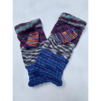 Grandma's Patchwork, Superwash Wool and Nylon Fingerless Glove