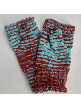 Harvest Moon, Superwash Merino Wool and Nylon, Fingerless Gloves