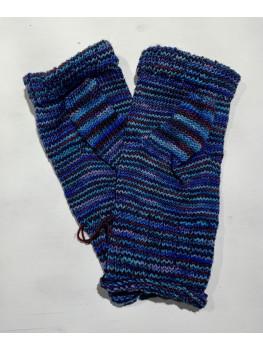 Canoe Ripples, Superwash Merino Wool and Nylon, Fingerless Glove