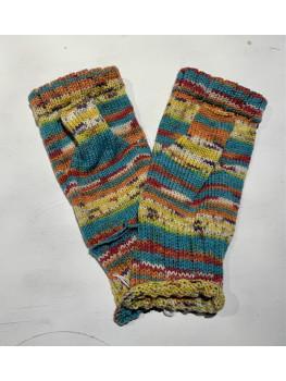 Arizona, Superwash Wool and Nylon, Fingerless Gloves