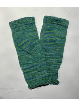 Minty Fresh, Superwash Merino Wool and Nylon, Fingerless Gloves