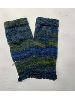 Lake Reflections, Superwash Wool and Nylon, Fingerless Gloves