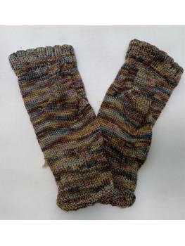 Forest Carpet, Superwash Merino Wool and Nylon, Fingerless Gloves