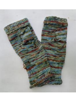 Silent Bay, Superwash Merino Wool and Nylon, Fingerless Gloves