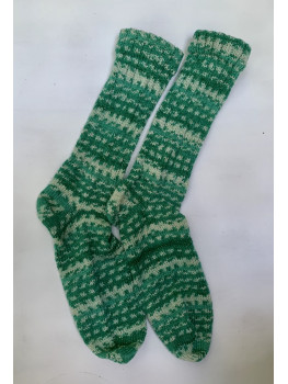 Christmas Sparkle, Superwash Wool and Nylon Cuff Length Socks