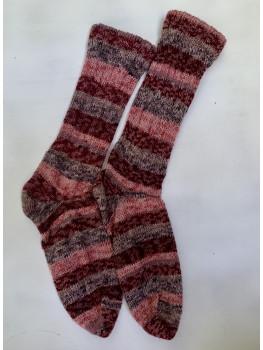 Blazing Fire, Superwash Wool and Nylon Cuff Length Socks