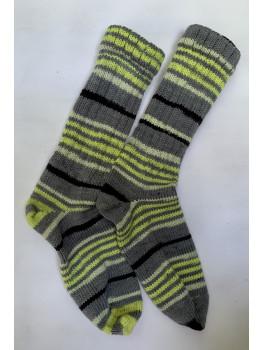Biking The Bearskin, Superwash Wool and Nylon Cuff Length Socks