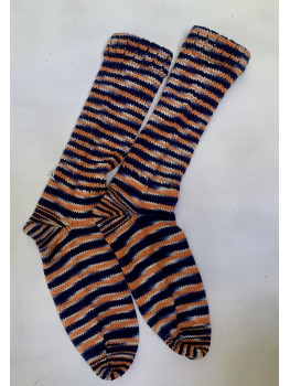 Chi-Town Bears, Superwash Wool and Nylon Cuff Length Socks