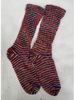 Rainbow Over Kaubashine, Superwash Merino and Nylon, Cuff Length Socks