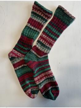 Twas The Night Before Christmas, Superwash Wool and Nylon, Cuff Length Sock