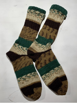A Walk In The Woods, Superwash Wool and Nylon, Cuff Length Sock