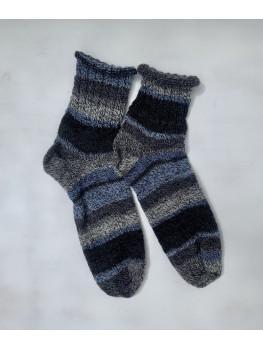 Stormy Ocean, Superwash Wool and Nylon, Ankle Socks
