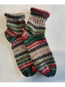 Elf On A Shelf, Superwash Wool and Nylon, Ankle Sock