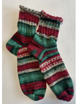 Twas The Night Before Christmas, Superwash Wool and Nylon, Ankle Sock