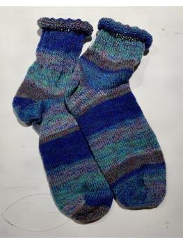 Lake Waves, Superwash Wool and Nylon, Ankle Sock