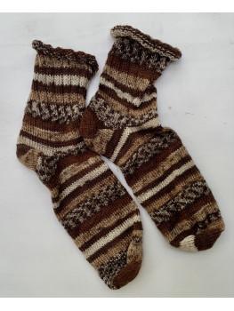 Hot Chocolate, Superwash Wool and Nylon, Ankle Sock