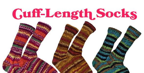Hand-made cuff length socks