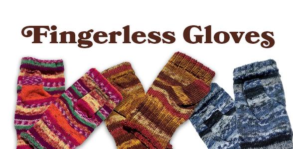 Hand-made fingerless gloves