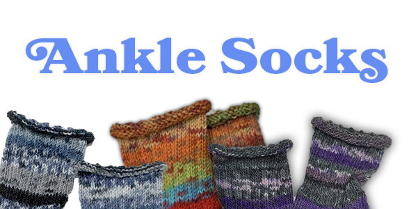 Hand-made ankle socks